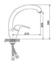 Смеситель Accoona для кухни с гайкой (утка) Латунь 35 A4013